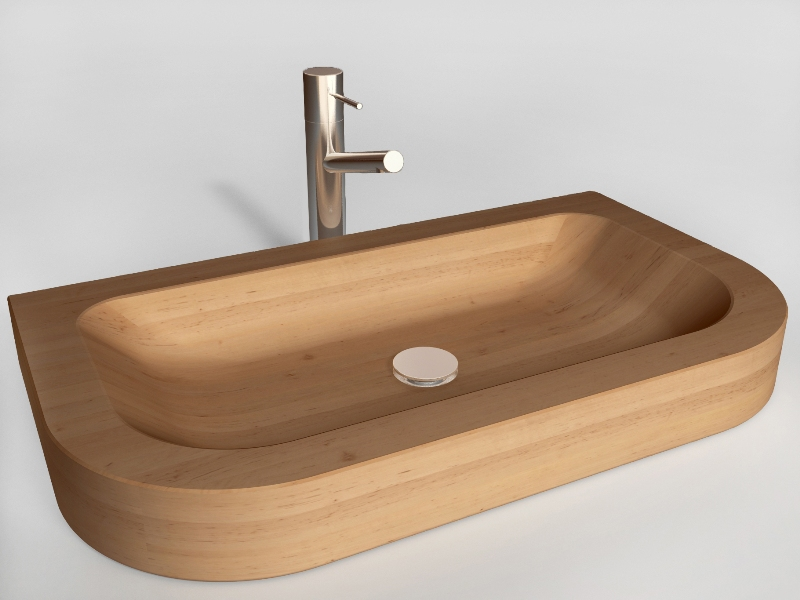 wooden sink Napoli