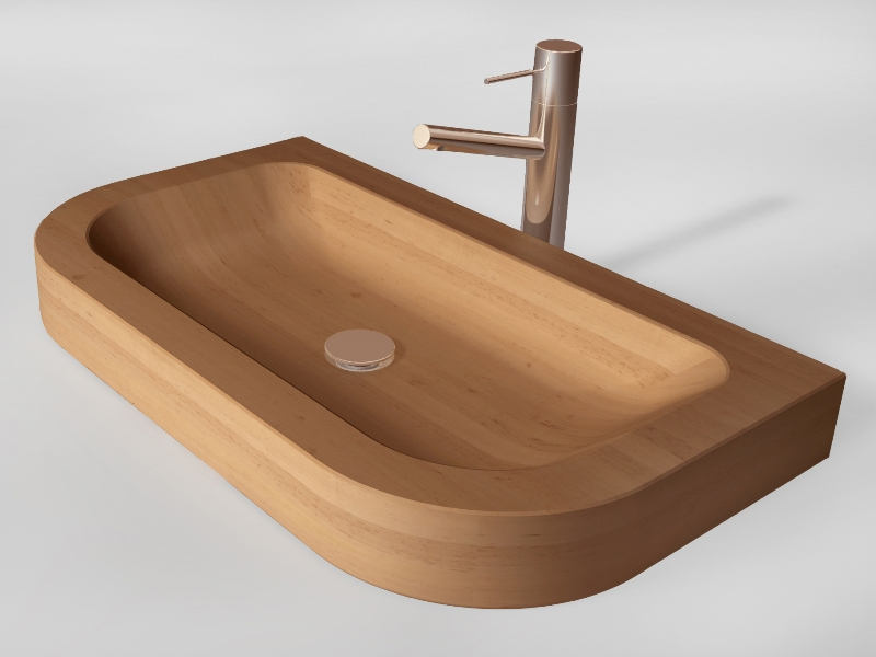wooden sink Napoli 2